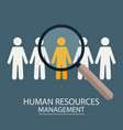 human resources management candidate selection vector image vector image