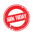 join today rubber stamp vector image vector image