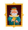 king cartoon portrait vector image vector image