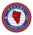 label sticker cards state nevada usa vector image