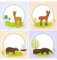 lama Maned wolf ant-eater Capybara set of vector image vector image
