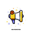 line icon of megaphone for new promotion concept vector image