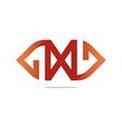 Logo letter X design vector image