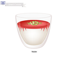 Malabi or Israeli Rose Scented Milk Pudding vector image vector image