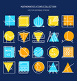 mathematics icon collection in colored line style vector image vector image