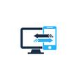 mobile computer logo icon design vector image
