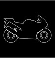 Motorcycle white color path icon