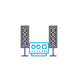 music system linear icon concept music system vector image vector image