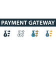 payment gateway icon set premium symbol in vector image vector image