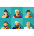 portrait of indian people in traditional costume vector image vector image