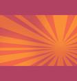 red pop art rays sunrise vector image