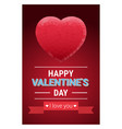 retro happy valentines day greeting card or poster vector image