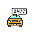 round-the-clock taxi service car deadline vector image
