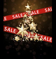 sale background with christmas tree vector image