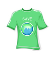 save earth t-shirt vector image