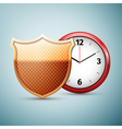 Saving time icon isolated on blue background vector image