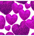 seamless pattern with fluffy soft heart vector image vector image