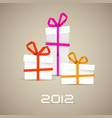 simple christmas gifts made from paper stripes vector image vector image