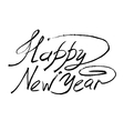 sketch happy new year hand lettering vector image vector image