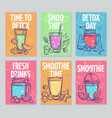 smoothie flyers colorful smoothies poster fresh vector image vector image