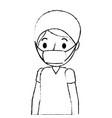 surgeon man avatar character icon vector image vector image