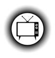 TV button vector image vector image