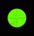 view in optical sight vector image vector image