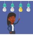 Woman having business idea vector image vector image