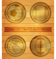 Wooden Sports Icons vector image vector image