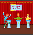 young cheerful people participate in entertainment vector image