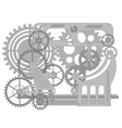 Pattern gear vector image