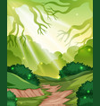 a green forest background vector image vector image