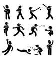 baseball softball swing pitcher champion icon vector image