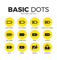 battery flat icons set vector image vector image