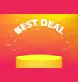 best deal banner template vector image vector image