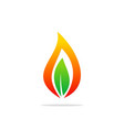 bio gas leaf abstract logo vector image vector image