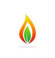 bio gas leaf abstract logo vector image