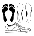 Black outlined sneakers shoe soles vector image vector image