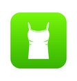 blank women tank top icon digital green vector image