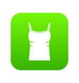 blank women tank top icon digital green vector image vector image