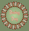 boxing day stockings wreath vector image vector image