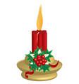 candlestickgold vector image