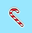 candy cane icon traditional christmas lolly vector image