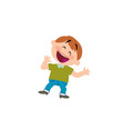 cartoon character boy cheerful vector image
