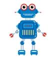 Cartoon cute robot vector image vector image