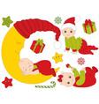 Christmas Babies Set vector image vector image