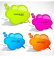 colorful cloud bubble for speech vector image vector image