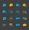 colorful speech bubble icons vector image