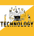 creative word concept technology and people doing vector image vector image
