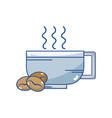 delicious coffee cup with grains vector image vector image